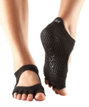 ToeSox Half Toe Bellarina Grip Socks in Black