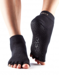 ToeSox Half Toe Ankle Grip Socks in Black