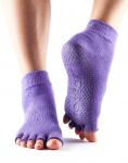 ToeSox Half Toe Ankle Grip Socks in Light Purple