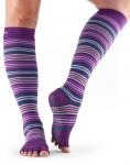 ToeSox Half Toe Knee High in Phlox Stripe