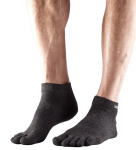 ToeSox Lightweight Ankle in Brindle Black