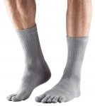 ToeSox Lightweight Crew in Brindle Grey
