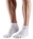 ToeSox Mediumweight Ankle in White