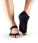 ToeSox Half Toe Bella Grip Socks in Black