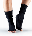 ToeSox Half Toe Knee High in Black