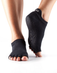 ToeSox Half Toe Low Rise Grip Socks in Black