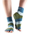 ToeSox Half Toe Ankle Blue/Green