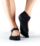 ToeSox Full Toe Bella Grip Socks in Black