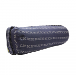 Cotton Patterned Buckwheat Bolster Blue