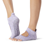 ToeSox Half Toe Bellarina Grip Socks in Heather Purple