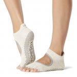 ToeSox Half Toe Bellarina Grip Socks in Oatmeal