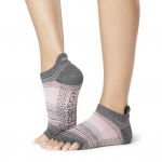 ToeSox Half Toe Low Rise Grip Socks in Echo