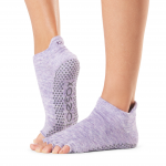 ToeSox Half Toe Low Rise Grip Socks in Heather Purple