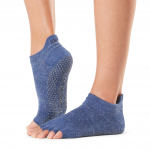 ToeSox Half Toe Low Rise Grip Socks in Navy Blue