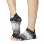 ToeSox Half Toe Low Rise Grip Socks in Static