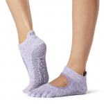 ToeSox Full Toe Bellarina Grip Socks in Heather Purple