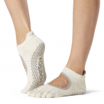 ToeSox Full Toe Bellarina Grip Socks in Oatmeal