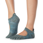 ToeSox Full Toe Bellarina Grip Socks in Upland