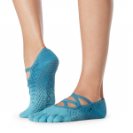 ToeSox Full Toe Elle Grip Socks in Glacial