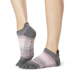 ToeSox Full Toe Low Rise Grip Socks in Echo