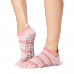 ToeSox Full Toe Low Rise Grip Socks in Fireside