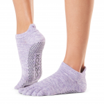 ToeSox Full Toe Low Rise in Heather Purple