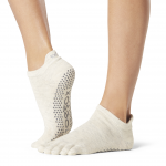 ToeSox Full Toe Low Rise in Oatmeal