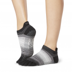 ToeSox Full Toe Low Rise Grip Socks in Static