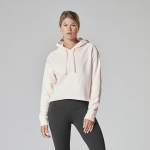 Tavi Noir Semi Cropped Hoodie in Blush