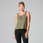 Tavi Noir Laser Cut Tank Top in Olive