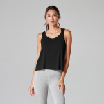 Tavi Noir Scoop Neck Tank Top in Ebony