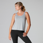 Tavi Noir Scoop Neck Tank Top in Heather Grey