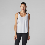 Tavi Noir Twist Shoulder Tank in Salt