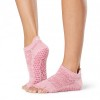 ToeSox Half Toe Low Rise Grip Socks in Azalea