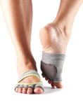 Dance ToeSox Half Toe Releve Heather/Lime