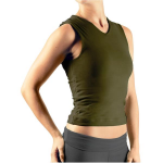 Double Layer Vest by Gossypium - Olive Green