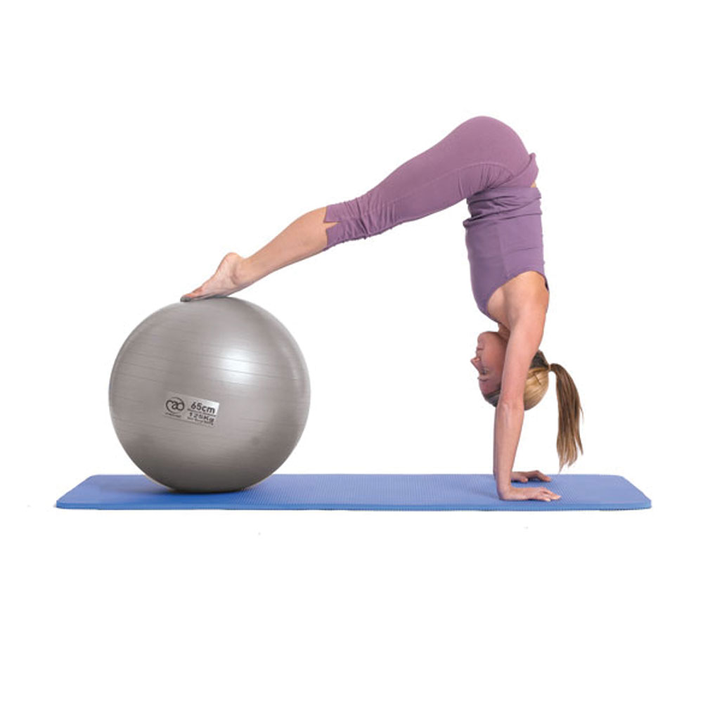 125kg Fitness Mad FBALL100 Swiss Yoga 65cm Core Exercise Workout Ball /& Pump