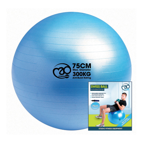 Swiss Ball, Pump & Online Guide 75cm