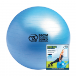 Swiss Ball, Pump & Online Guide - 55cm