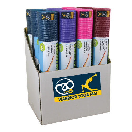 Box of 12 Mixed Warrior II Yoga Mats
