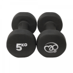 Pair 5Kg Neo Dumbbells - Black