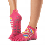ToeSox Full Toe Low Rise Grip Socks in Bon Voyage