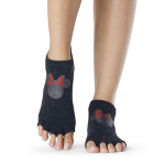 ToeSox Half Toe Low Rise Grip Socks in Confetti Minnie