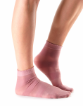 Casual Sheer Cassie Stripe Socks in Rose