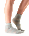 Casual Sheer Cassie Stripe Socks in Sage