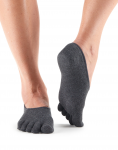 ToeSox Casual Dash in Carbon
