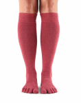 ToeSox Casual Knee High in Pomegranate