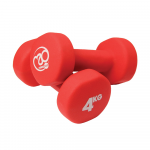 Pair of 4Kg Neo Dumbbells - Red