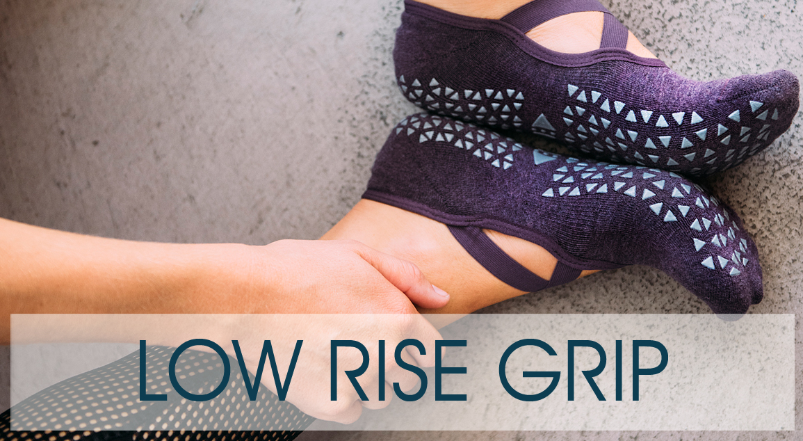 Low rise grip socks by Tavi Noir