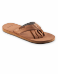 Mens Encino Leather Sandal in Teak